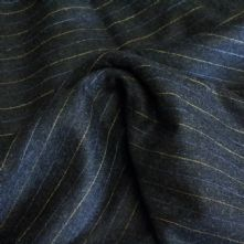 Grey Wool Flannel with Blue and Yellow Pin Stripe150cm Wide